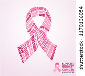 breast cancer awareness month... | Shutterstock .eps vector #1170136054
