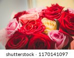 a pair of gold wedding rings... | Shutterstock . vector #1170141097