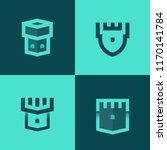 minimalist vector logotypes of... | Shutterstock .eps vector #1170141784