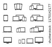 vector image set of device... | Shutterstock .eps vector #1170142177