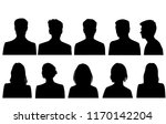 set silhouettes of men and... | Shutterstock .eps vector #1170142204
