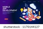design isometric concept of app ...