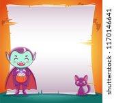 little vampire with black... | Shutterstock .eps vector #1170146641