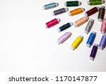 colored thread like coils on... | Shutterstock . vector #1170147877