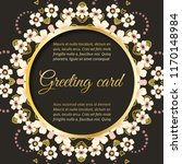 greeting card  floral wedding...   Shutterstock .eps vector #1170148984