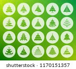 christmas tree icons set sign... | Shutterstock .eps vector #1170151357