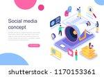 modern flat design isometric... | Shutterstock .eps vector #1170153361
