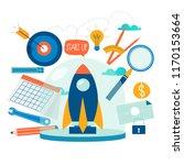 business project start up... | Shutterstock .eps vector #1170153664