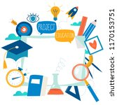 education  online training... | Shutterstock .eps vector #1170153751
