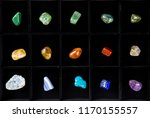 top view of variety of colorful ... | Shutterstock . vector #1170155557