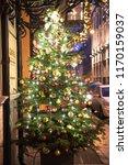 christmas tree. happy new year | Shutterstock . vector #1170159037