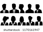 set silhouettes of men and... | Shutterstock .eps vector #1170161947