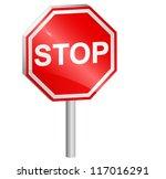 vector illustration of stop... | Shutterstock .eps vector #117016291