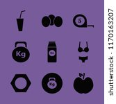 diet vector icons set. with... | Shutterstock .eps vector #1170163207