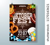 oktoberfest party poster vector ... | Shutterstock .eps vector #1170163621