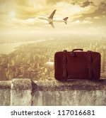 concept of travel by airplane | Shutterstock . vector #117016681