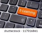 concepts of e learning  for... | Shutterstock . vector #117016861