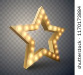 star with lights isolated.  3d... | Shutterstock .eps vector #1170173884
