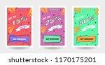 trendy flat geometric vector... | Shutterstock .eps vector #1170175201