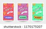 trendy flat geometric vector... | Shutterstock .eps vector #1170175207