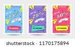 trendy flat geometric vector... | Shutterstock .eps vector #1170175894