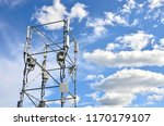 telecommunication tower against ... | Shutterstock . vector #1170179107