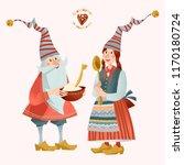 scandinavian christmas... | Shutterstock .eps vector #1170180724
