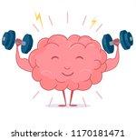 brain training with dumbbells... | Shutterstock .eps vector #1170181471