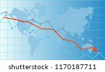 abstract financial chart with... | Shutterstock .eps vector #1170187711