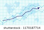 abstract financial chart with... | Shutterstock .eps vector #1170187714