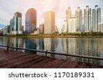 benjakitti park bangkok city...   Shutterstock . vector #1170189331