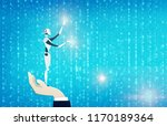 business background with robot...   Shutterstock . vector #1170189364