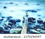 romantic soul of sunset. long... | Shutterstock . vector #1170196597