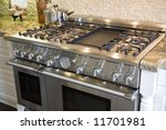 stove and oven in a luxury home ... | Shutterstock . vector #11701981