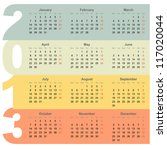 office 2013 year calendar with... | Shutterstock .eps vector #117020044