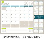 spanish calendar planner for... | Shutterstock .eps vector #1170201397
