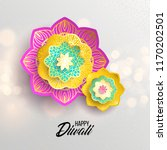 happy diwali. paper graphic of... | Shutterstock .eps vector #1170202501