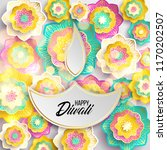 happy diwali. paper graphic of... | Shutterstock .eps vector #1170202507