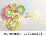 happy diwali. paper graphic of... | Shutterstock .eps vector #1170202531