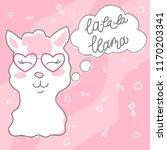 cute doodle character happy... | Shutterstock .eps vector #1170203341
