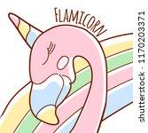 cute doodle character happy... | Shutterstock .eps vector #1170203371