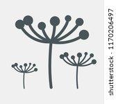 fennel dill botany flower vector | Shutterstock .eps vector #1170206497