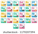 cute cartoon animals alphabet...   Shutterstock .eps vector #1170207394