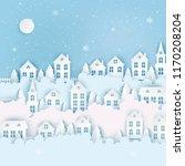 winter urban countryside... | Shutterstock .eps vector #1170208204