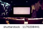 large empty cinema screen and... | Shutterstock . vector #1170208441