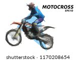 motocross from triangles. low... | Shutterstock .eps vector #1170208654