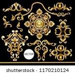 golden baroque elements... | Shutterstock .eps vector #1170210124
