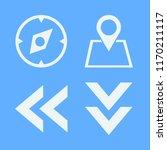 direction vector icons set....   Shutterstock .eps vector #1170211117