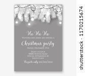 christmas party invitation... | Shutterstock .eps vector #1170215674