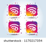 wifi wireless network icons. wi ... | Shutterstock .eps vector #1170217354